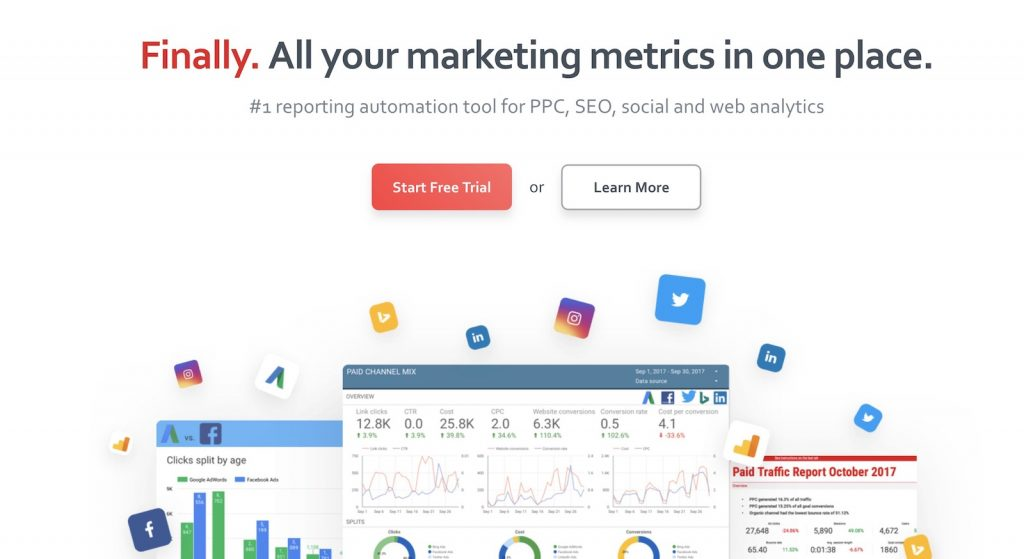 a cloud-based reporting tool designed for digital marketers